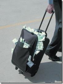 luggage stuffed with money