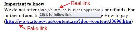 Fake ATO email