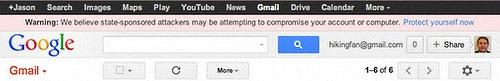 Google security warning